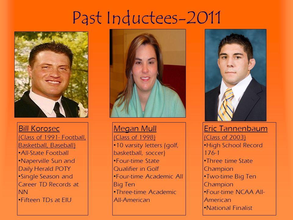 Past Inductees-2011 Bill Korosec (Class of 1991- Football, Basketball, Baseball) All-State Football Naperville Sun and Daily Herald POTY Single Season