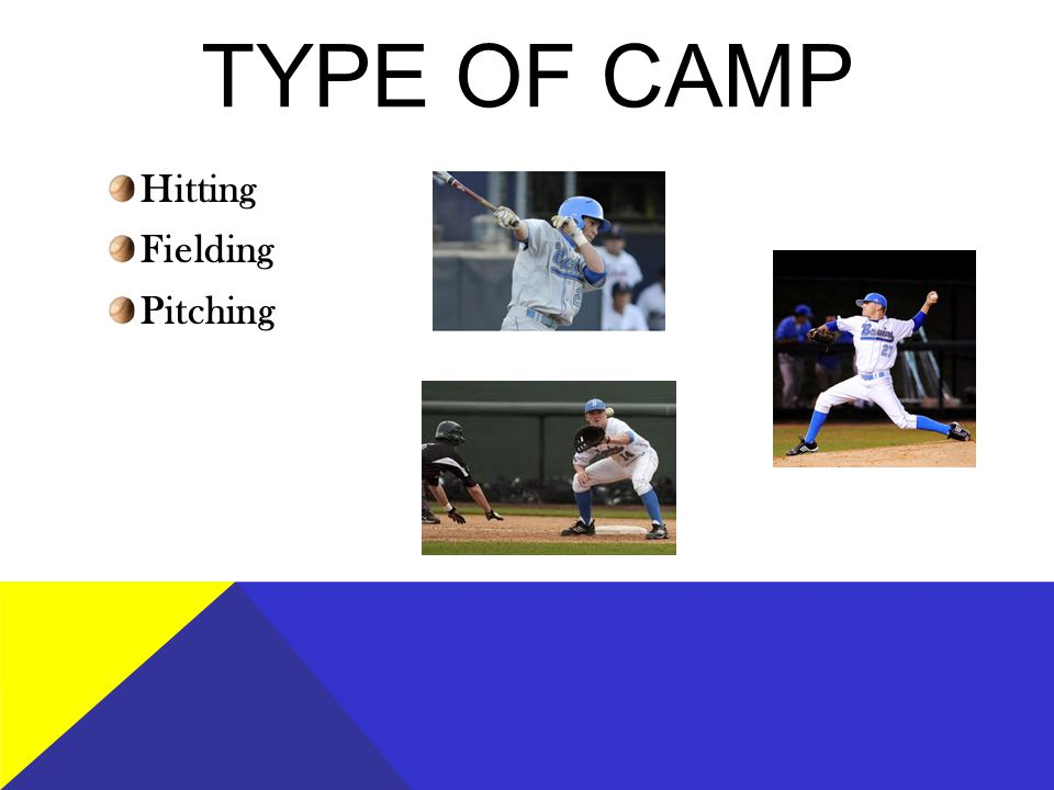 TYPE OF CAMP Hitting Fielding Pitching