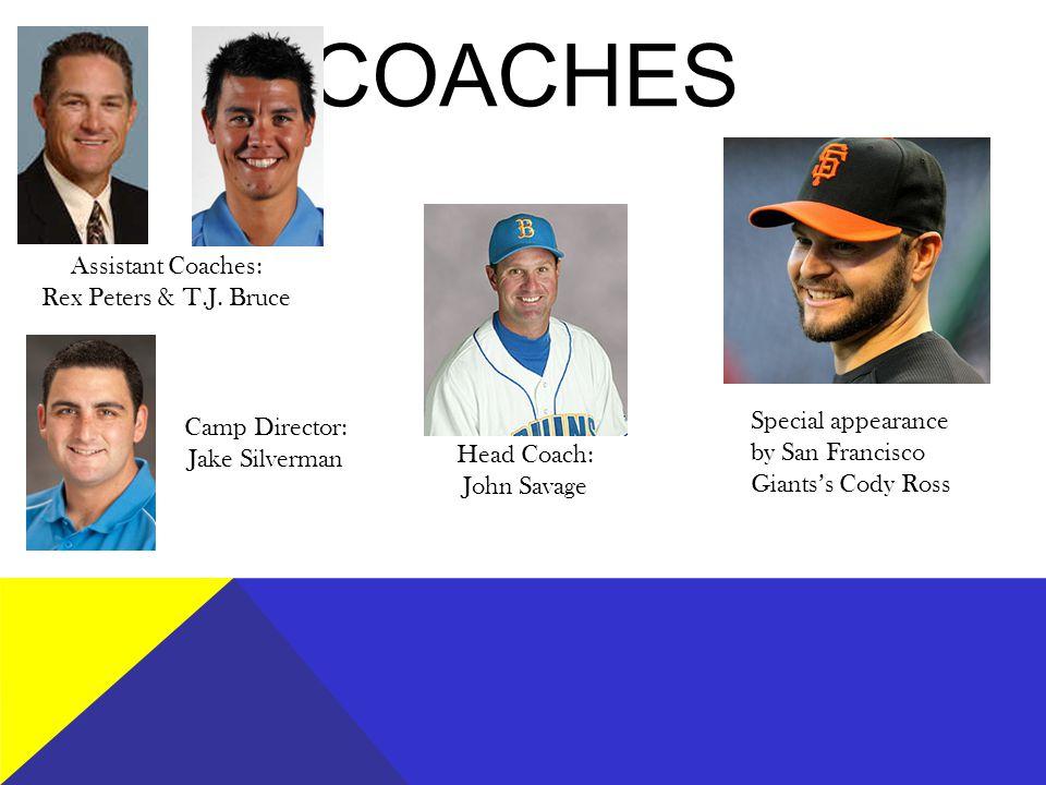 COACHES Head Coach: John Savage Assistant Coaches: Rex Peters & T.J.