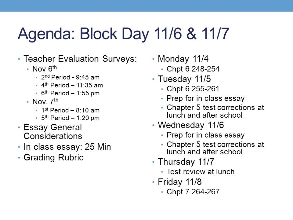Writing Instruction On block day of next week you will be given one of three essay prompts to write on for 25 minutes.