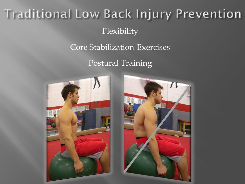  Train for a contraction of deep abdominal muscles/LM Must be specific Minimal activation of global muscles Patient must be compliant  Goal: Teach contraction of LM and TrA independent of Global Muscle Firing