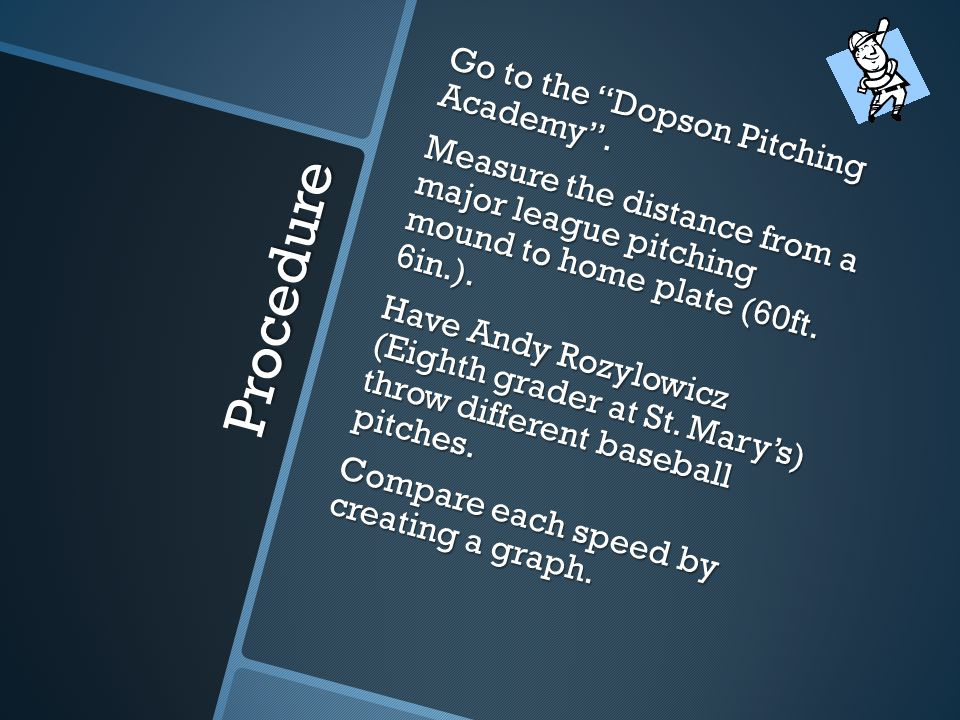 Procedure Go to the Dopson Pitching Academy .