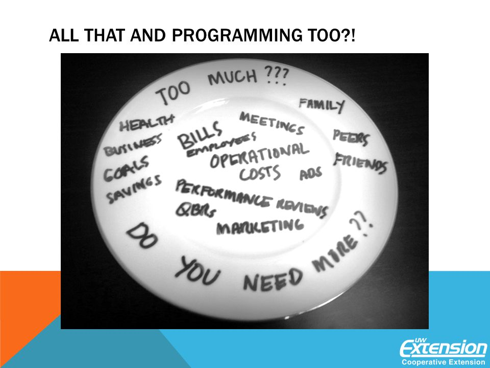 ALL THAT AND PROGRAMMING TOO !