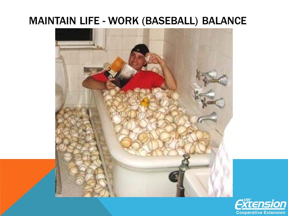 MAINTAIN LIFE - WORK (BASEBALL) BALANCE