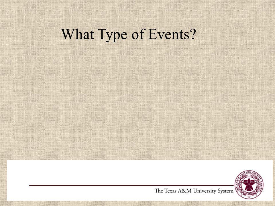 What Type of Events? Enrichment Program Academic Programs Lab Experiments