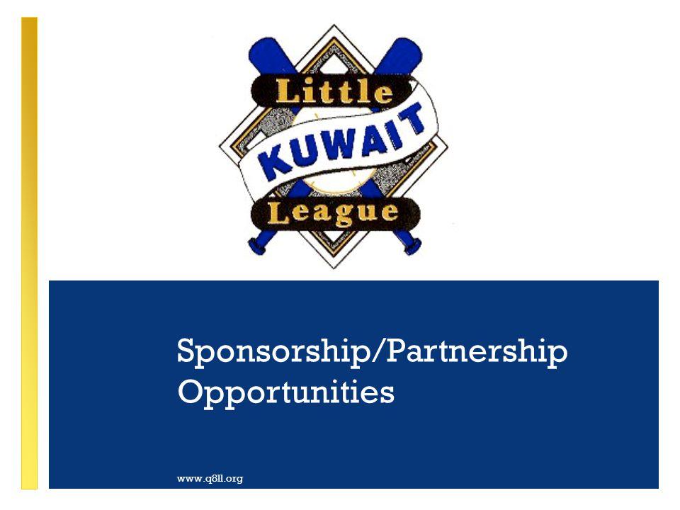 Sponsorship/Partnership Opportunities www.q8ll.org