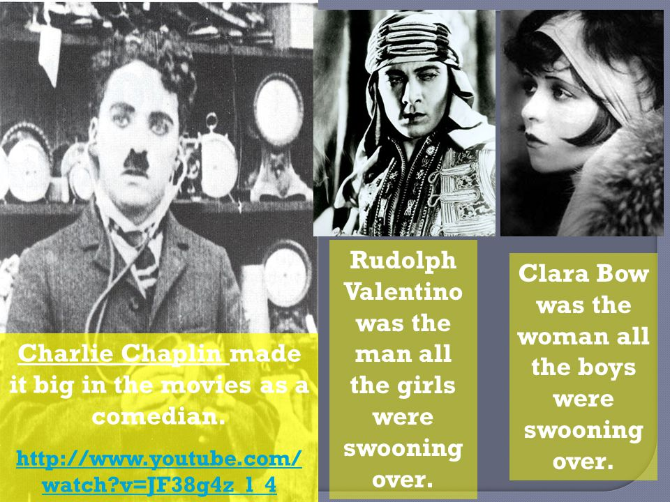 Charlie Chaplin made it big in the movies as a comedian.