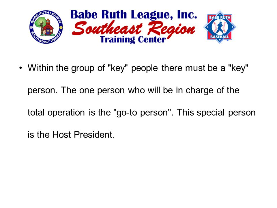 Within the group of key people there must be a key person.