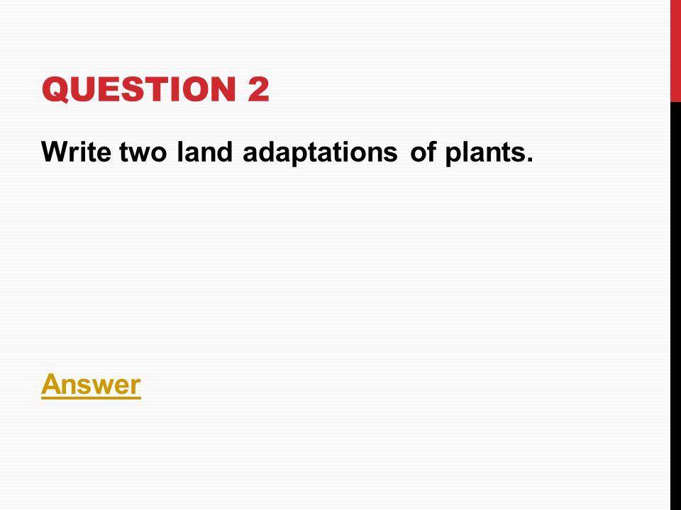 ANSWER -Anthophyta and Bryophyta HOME