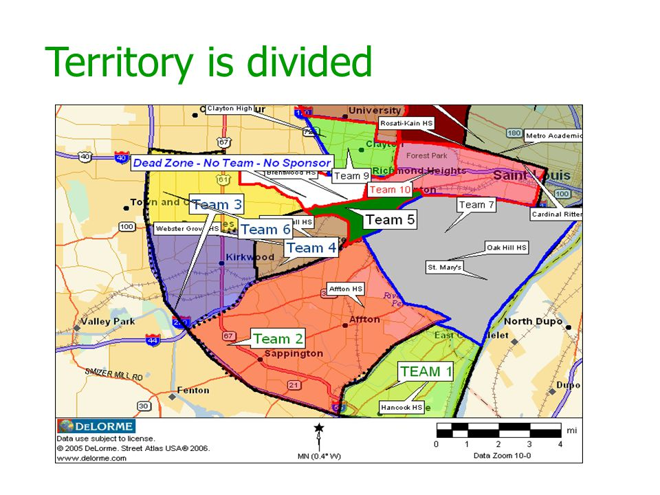 Territory is divided
