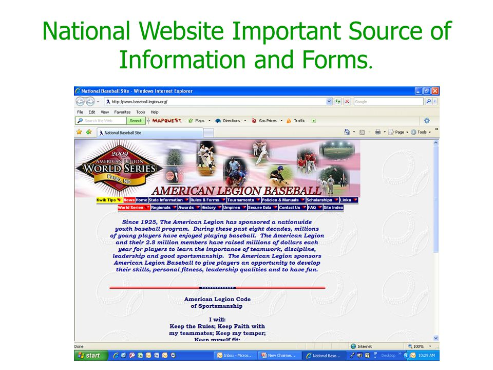 National Website Important Source of Information and Forms.