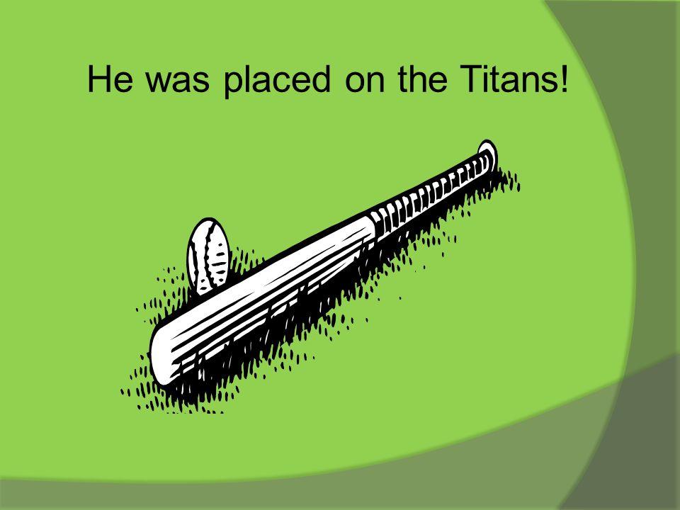 This was a top notch travel baseball team. Titans
