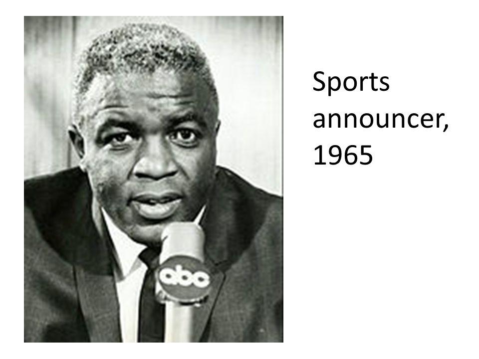 Sports announcer, 1965