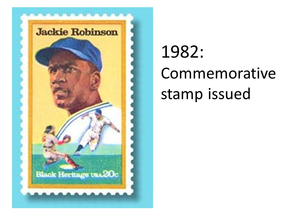 1982: Commemorative stamp issued