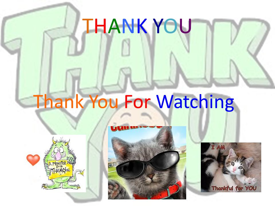 THANK YOU Thank You For Watching