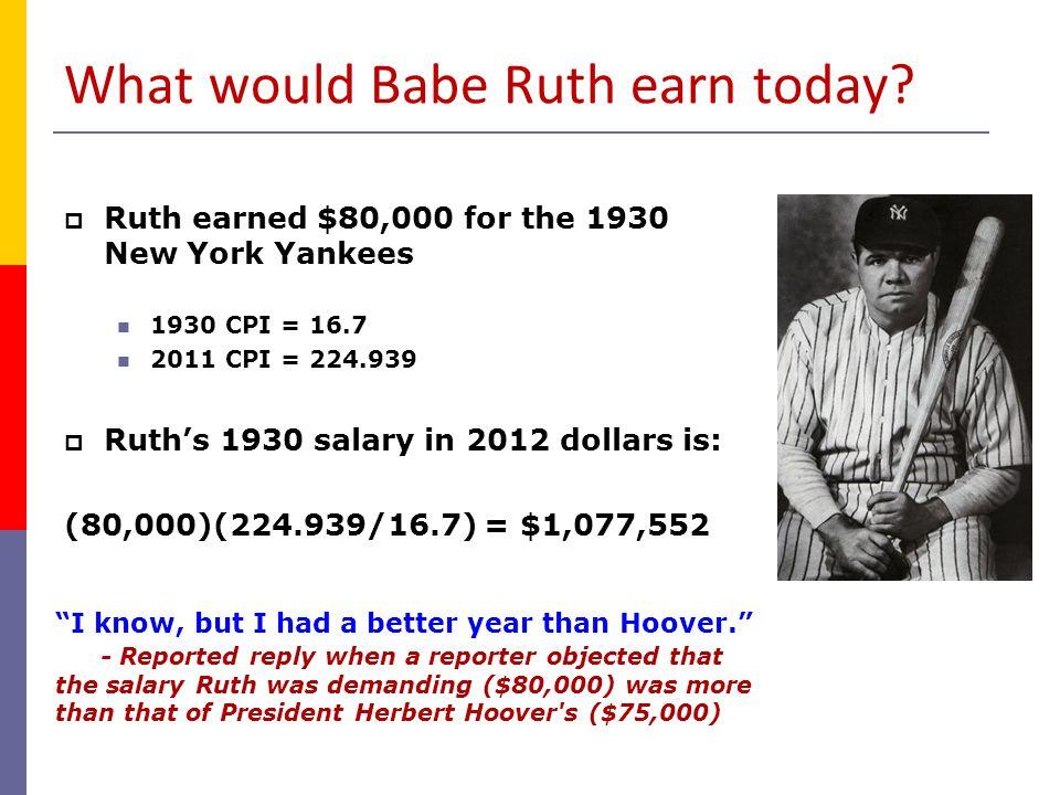Average Salaries in Pro Sports (Nominal $) MLBNFLNHLNBA 1970 29,303 41,000 25,000 1972 34,092 45,000 1974 40,839 56,000 65,000 1976 51,501 78,000 86,000 1978 99,876 100,000 92,000 139,000 1980 143,756 117,000 108,000 170,000 1982 241,497 157,000 120,000 212,000 1984 329,408 279,000 118,000 275,000 1986 412,520 288,000 144,000 375,000 1988 438,729 307,000 172,000 510,000 1990 597,537 430,000 211,000 750,000 1992 1,082,667 551,000 368,000 1,100,000 1994 1,168,263 674,000 562,000 1,441,000 1996 1,119,981 807,000 892,000 1,979,000 1998 1,398,831 1,000,000 1,167,713 2,818,000 2000 1,895,630 1,116,100 1,642,590 2,901,595 2002 2,295,694 1,300,000 1,790,000 3,893,801 2004 2,486,609 1,333,333 1,830,000 3,748,659 2006 2,866,544 1,947,898 1,751,845 4,176,241 2008 3,154,845 2,205,792 2,234,225 5,365,000