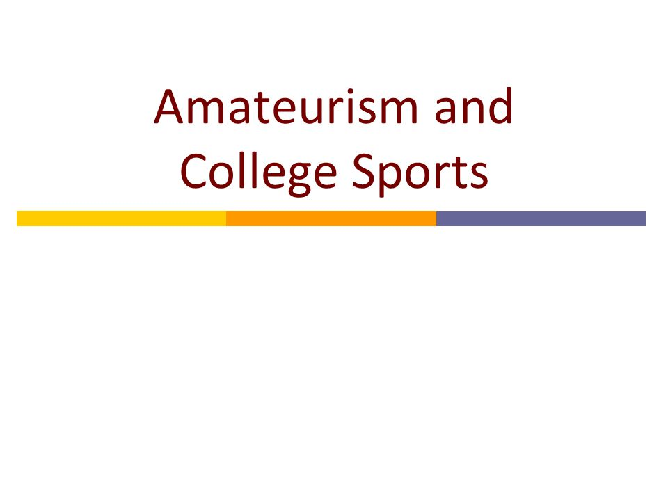 Overview  College sports is similar in many economic ways to pro sports, but the relationship between the athletics department and the university deserves careful attention  Conferences and the NCAA play an important role in limiting competition, negotiating TV broadcasts, and managing competitive balance.