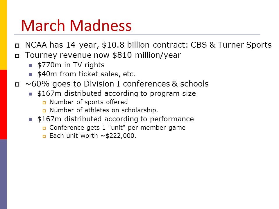Non-Profit vs Profit Seeking  Principle-agent problem  Growing payroll costs for sports programs
