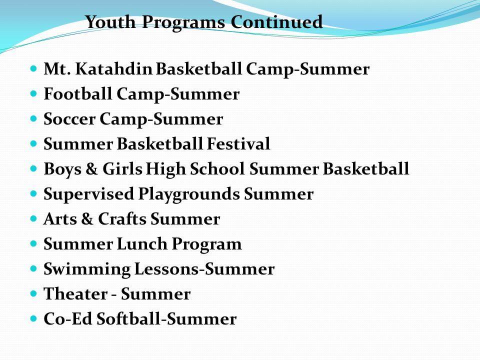 Mt. Katahdin Basketball Camp-Summer Football Camp-Summer Soccer Camp-Summer Summer Basketball Festival Boys & Girls High School Summer Basketball Supe