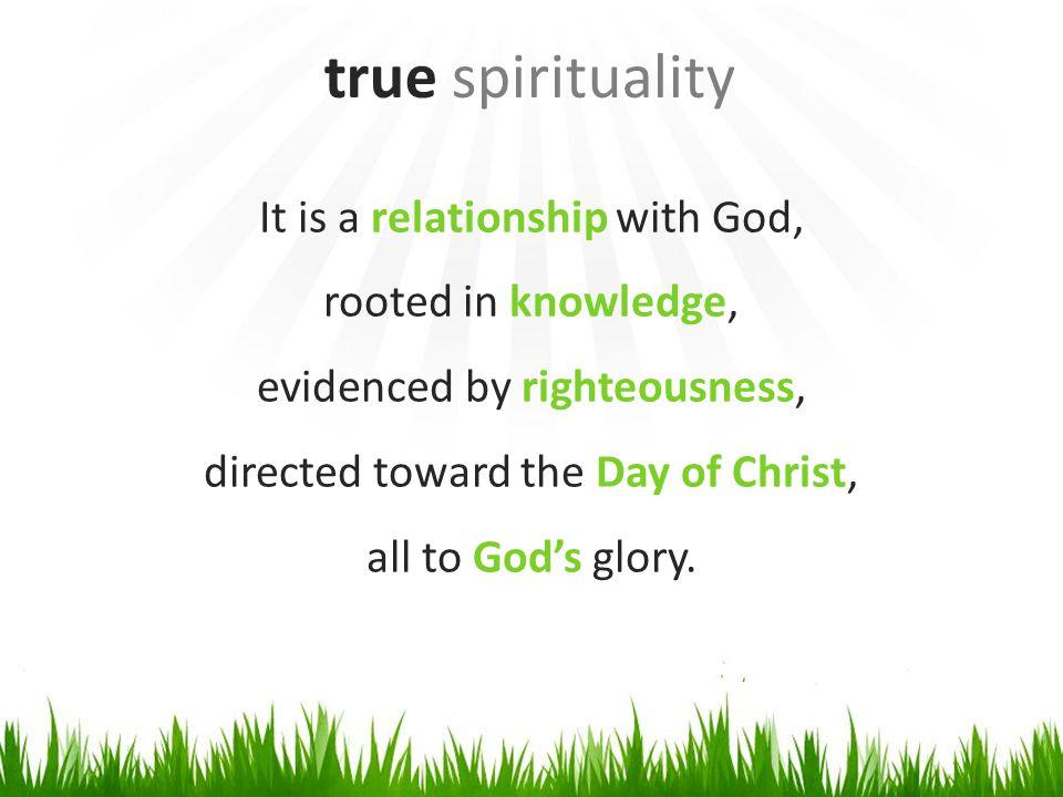 Spiritual vision & direction that leads to spiritual devotion. true spirituality FAITH HOPE LOVE