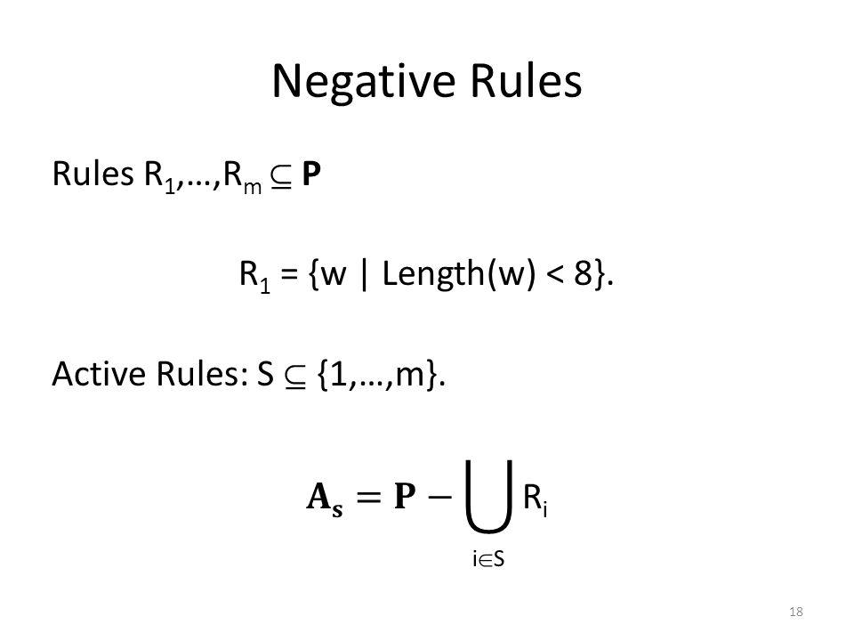 Negative Rules 18
