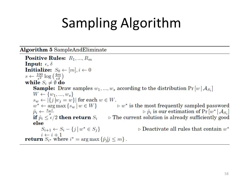 Sampling Algorithm 58