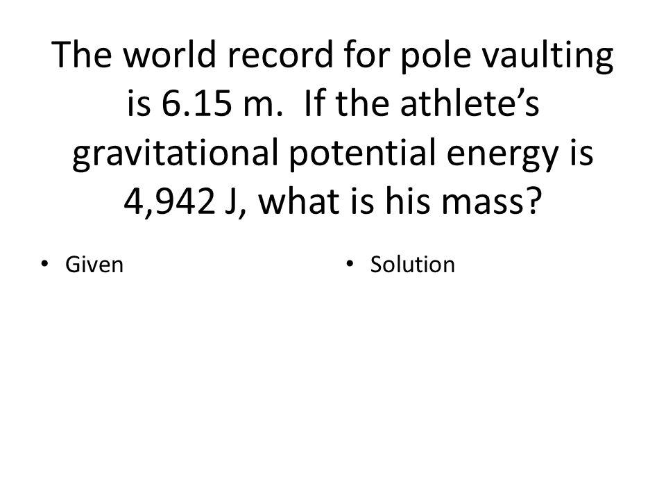 Energy problems Worksheet 10.