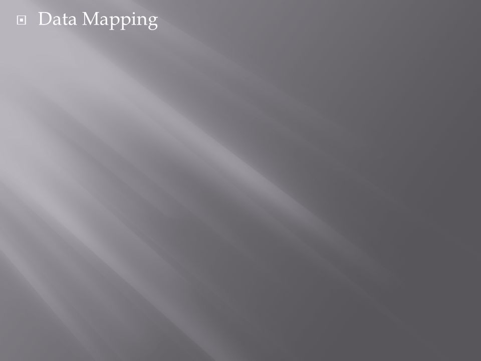  Data Mapping