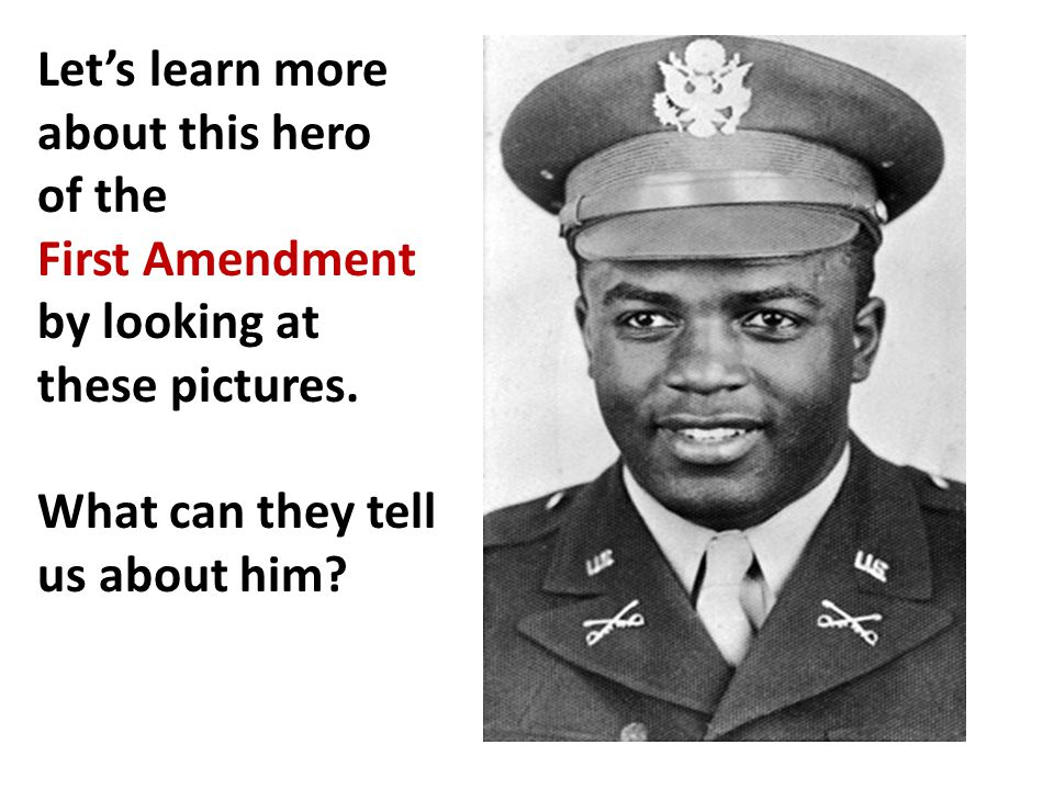 Let's learn more about this hero of the First Amendment by looking at these pictures.