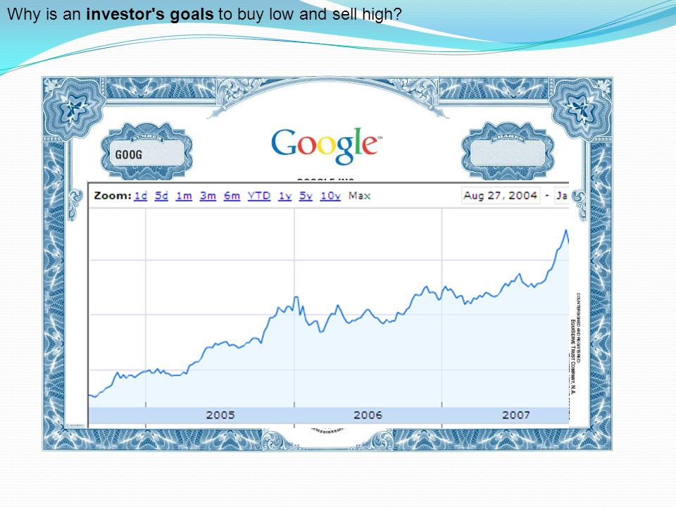 Why is an investor s goals to buy low and sell high?