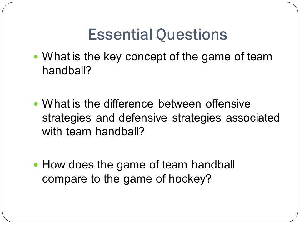 Handball Games Rules The Game of Team Handball