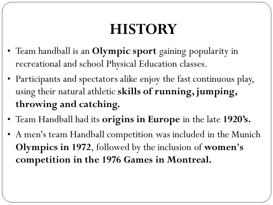 Handball History of The Game History Team Handball is an