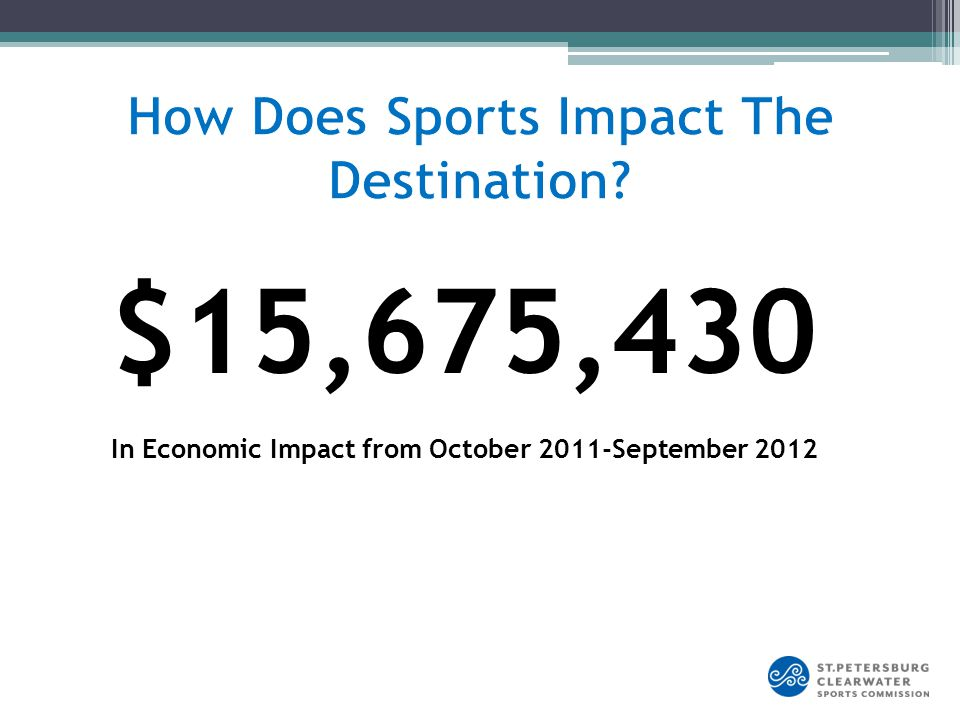 $15,675,430 In Economic Impact from October 2011-September 2012
