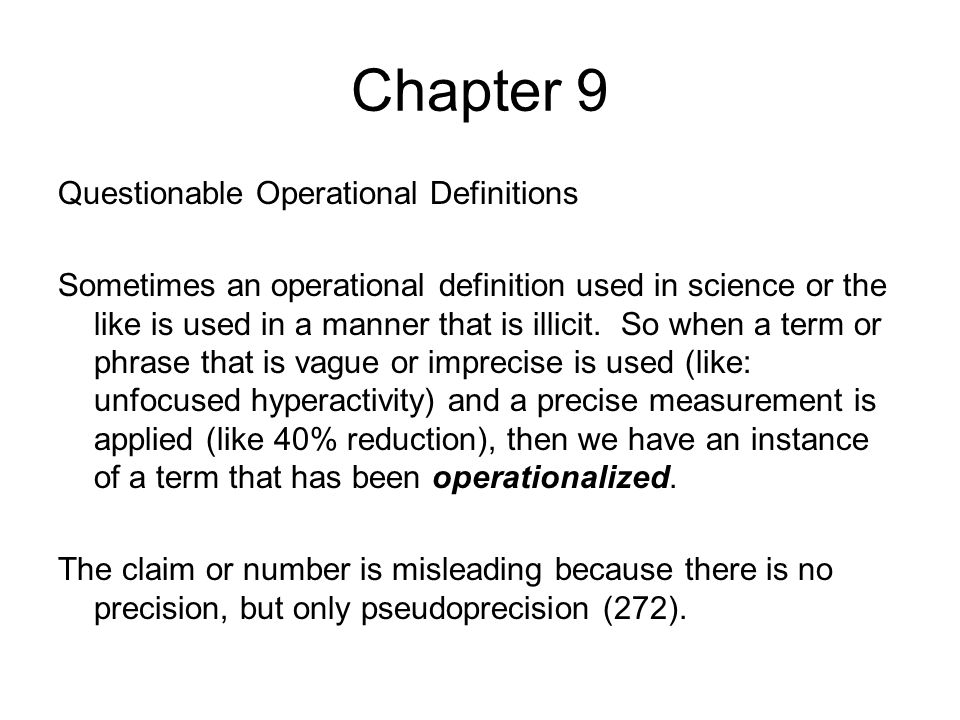 Chapter 9 Examples of the fallacies of composition and division.