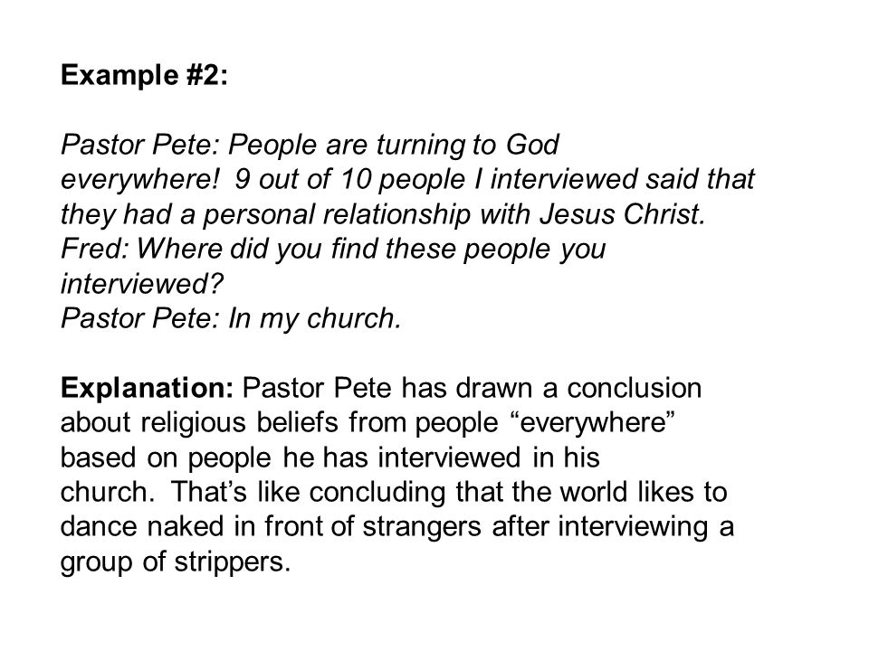 Example #2: Pastor Pete: People are turning to God everywhere.