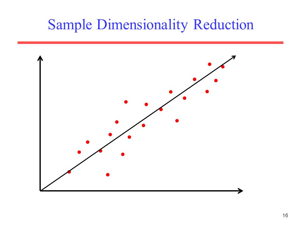 Sample Dimensionality Reduction 16