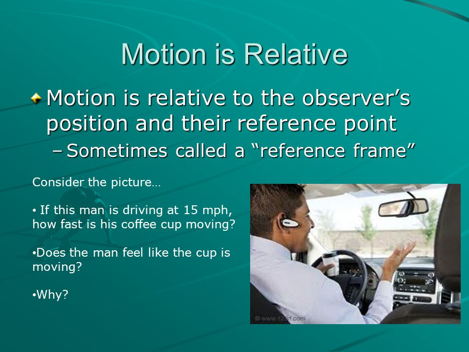 Let's get back to the car example… Name another control that enables a change in velocity.