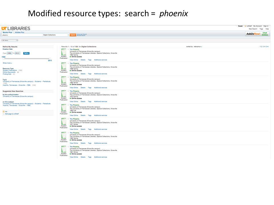 Modified resource types: search = phoenix