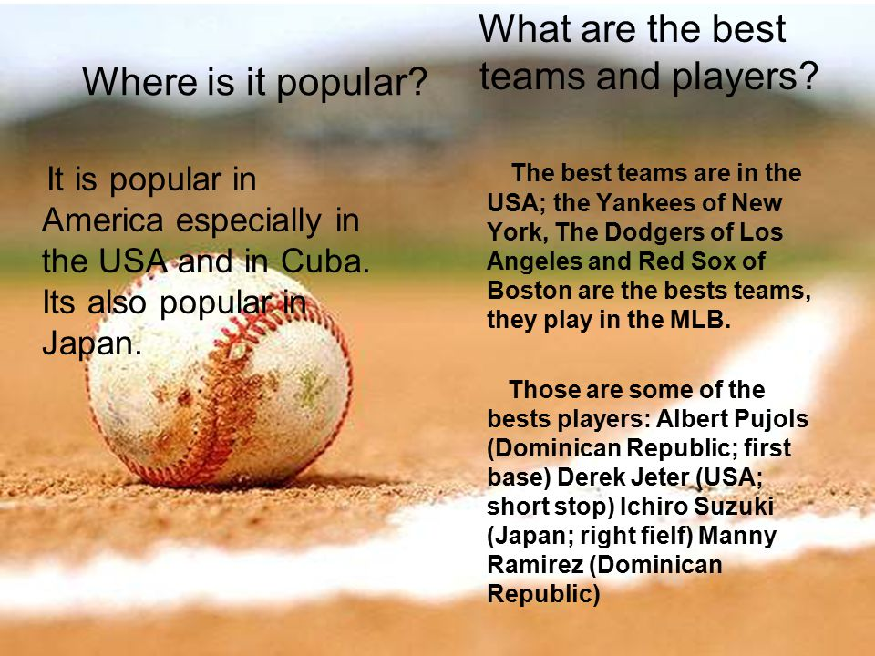Where is it popular. What are the best teams and players.