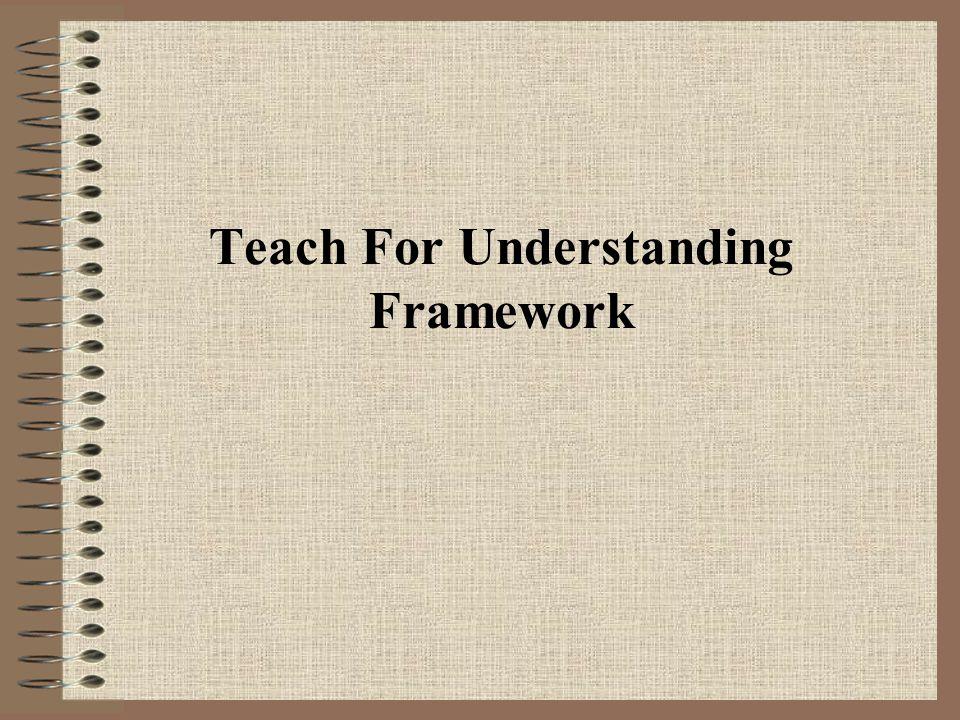 Teach For Understanding Framework