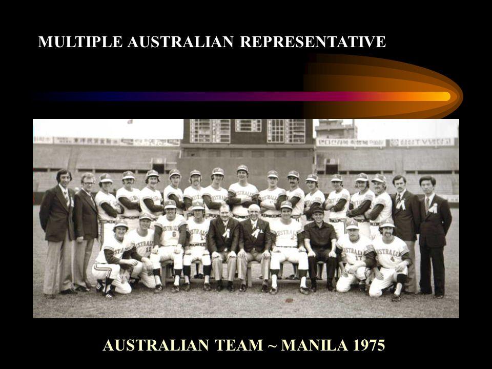 MULTIPLE AUSTRALIAN REPRESENTATIVE AUSTRALIAN TEAM ~ MANILA 1975