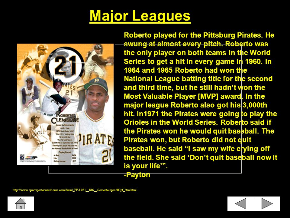 He played for the Santurce Crabbers in the minor league for a while.
