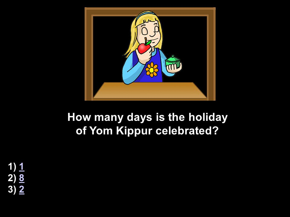 CORRECT.What special event happened in the holy temple on Yom Kippur.
