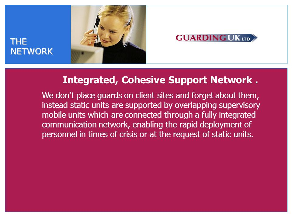 THENETWORK Integrated, Cohesive Support Network.