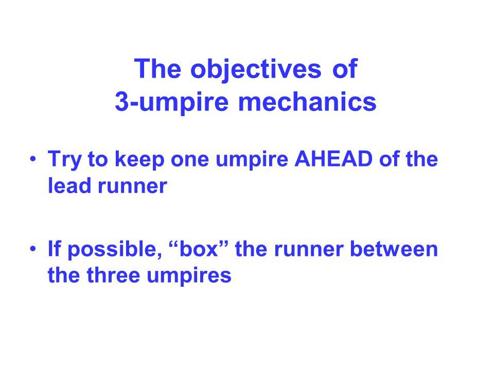 Umpire Positions Runner on 3 rd