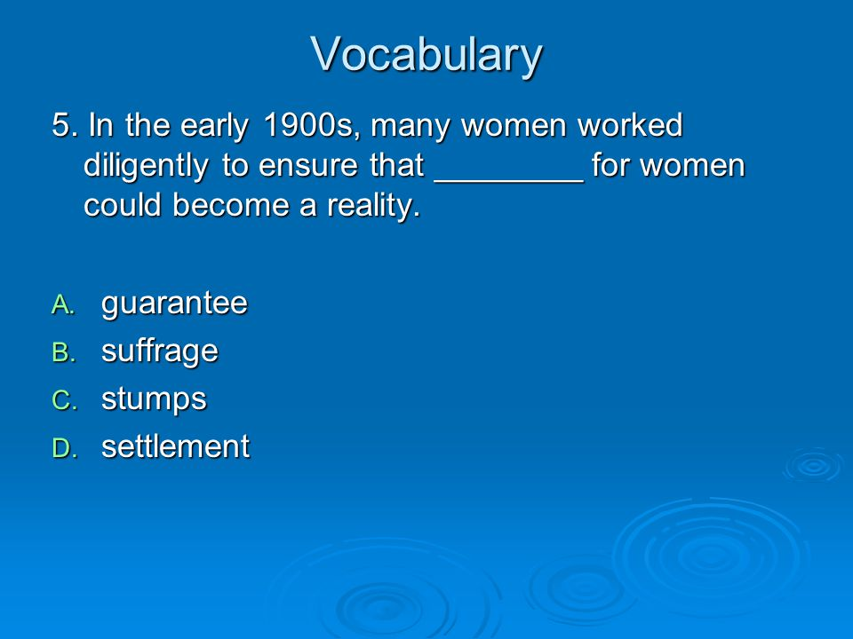 Vocabulary 5.