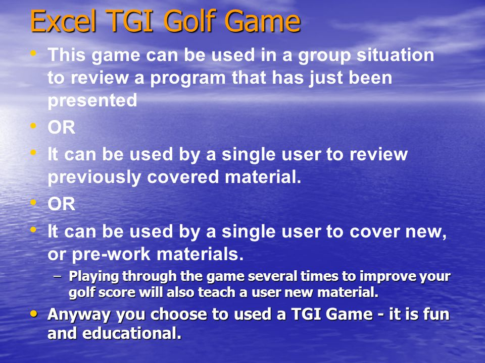 The Training Games Concept We provide Games that help you Train Input multiple choice questions from your own training materials to drive the play of the game.