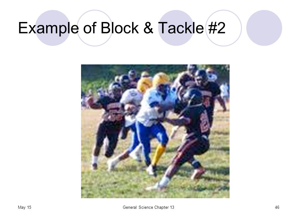 May 15General Science Chapter 1346 Example of Block & Tackle #2