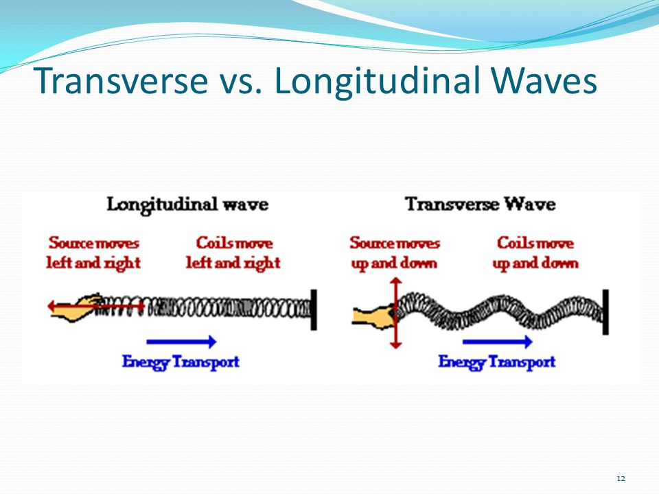 12 Transverse vs. Longitudinal Waves