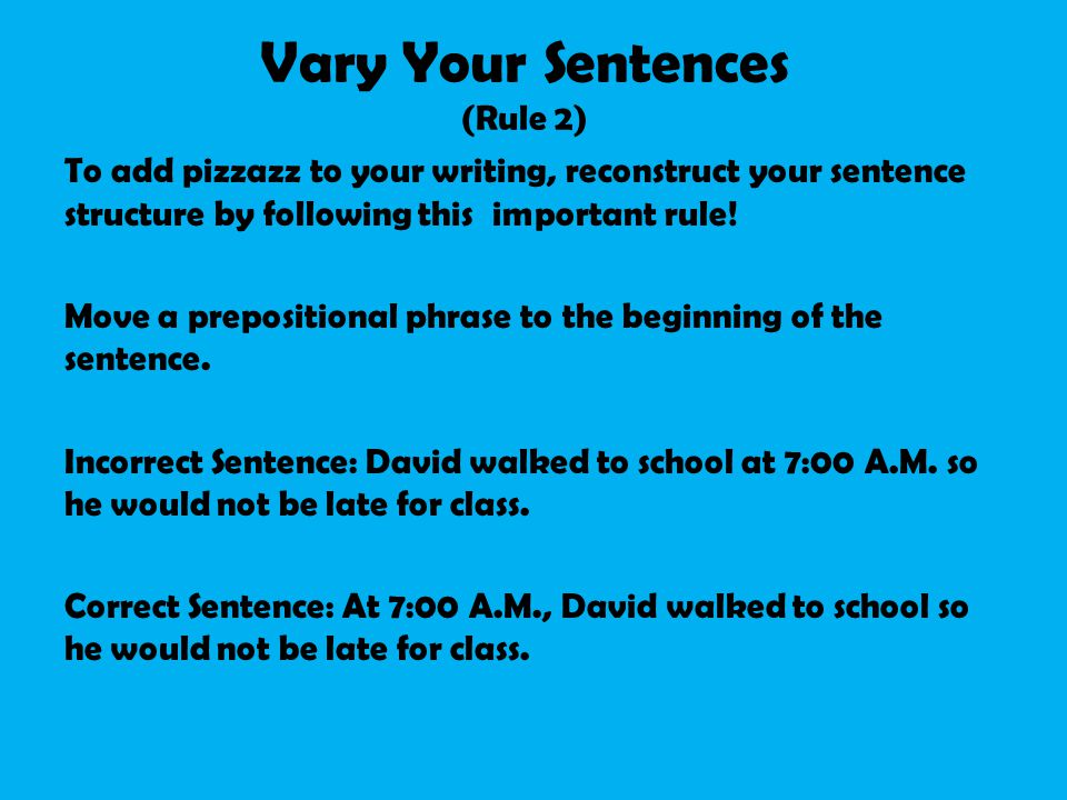 writing essays sentence structure
